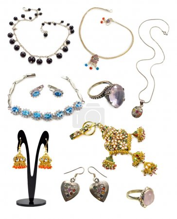 Set with ethnic jewelry collection