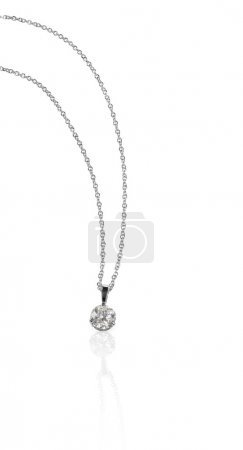 Diamond Pendant Necklace on a chain