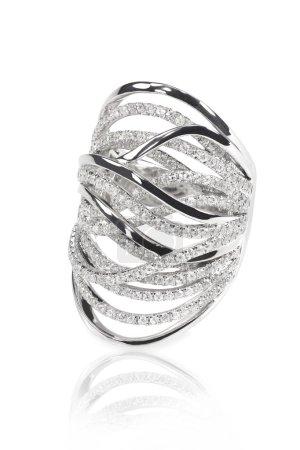 Diamond encrusted engagment wedding anniversary ring