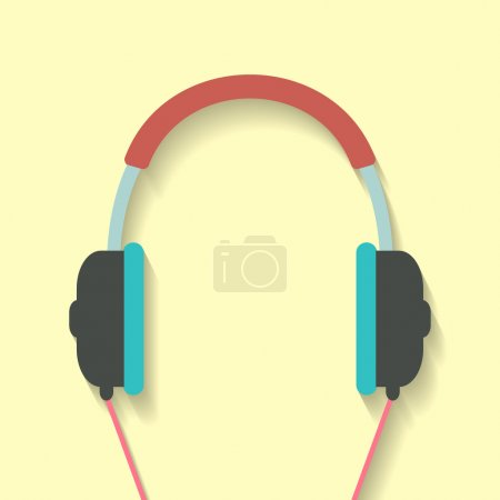 headphone icon in flat style