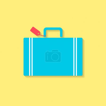Luggage flat icon, travel conception. vector illus...