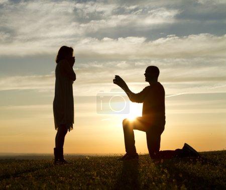 proposition du coucher du soleil