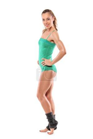 Athlete woman posing