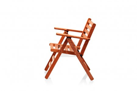 Wooden folding beach chair