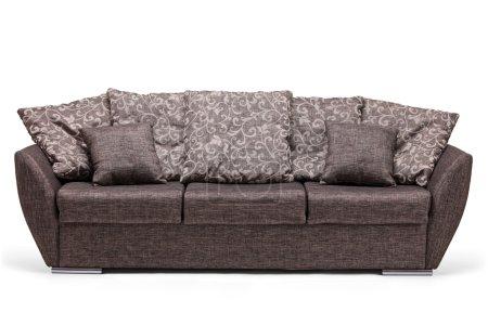 Photo pour Un plan studio d'un canapé moderne isolé sur fond blanc - image libre de droit