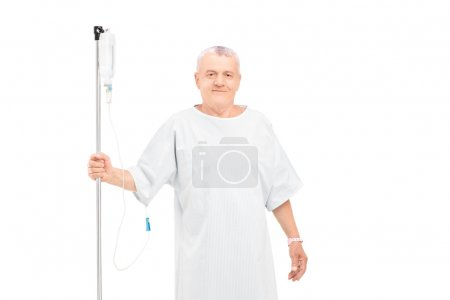 Man getting i.v. infusion