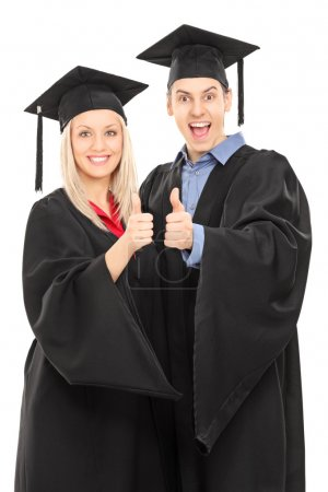 College students giving thumbs up