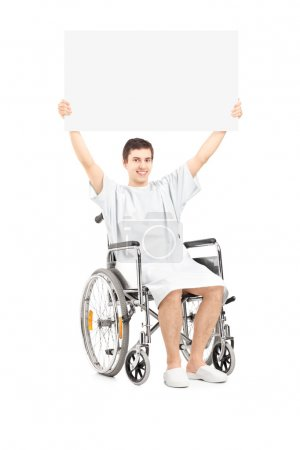 Male patient in wheelchair