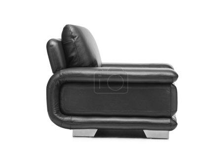 Leather black armchair