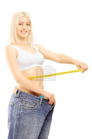 Smiling weightloss woman
