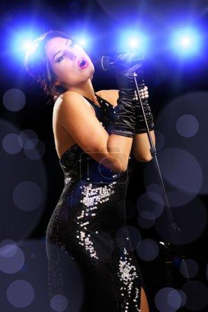 Female singer singing