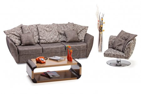 Modern furniture, sofa and chair