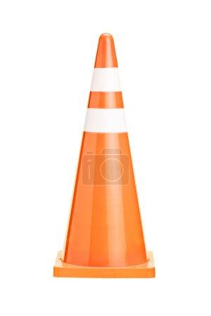 Orange construction cone