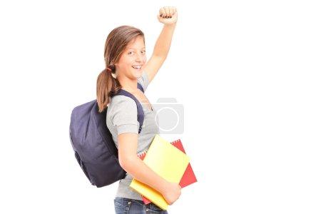 étudiante adolescente heureuse
