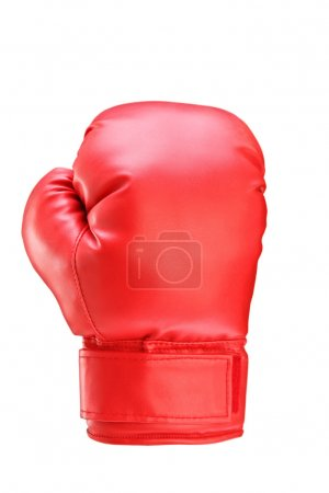 Photo for A studio shot of a red boxing glove isolated on white background - Royalty Free Image