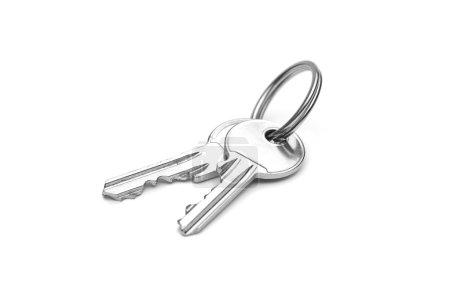 Photo pour Une paire de clés isolées sur fond blanc - image libre de droit