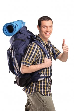 Man with backpack