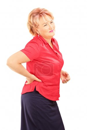Mature woman suffering from a back pain