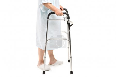 Patient using walker