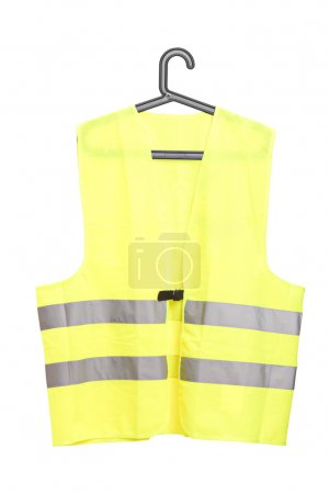 Yellow vest on hanger