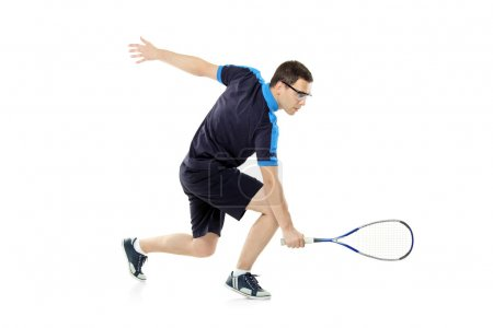 Squash player playing