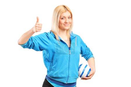 Professional female handball player