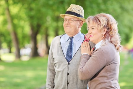 Lovely mature couple in park