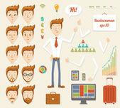 Illustration of cartoon manager