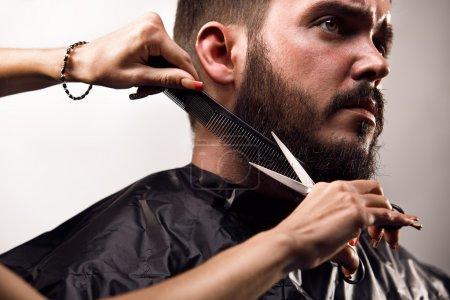 Foto de Recorte de barba - Imagen libre de derechos