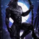 Werewolf howling on a tree...