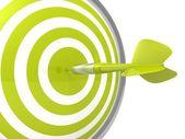 Conceptual green dart target