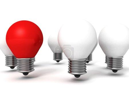 Red light bulb lamp
