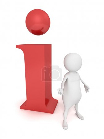 Man standing  to  information  icon