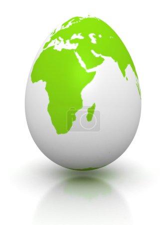 Green earth globe egg