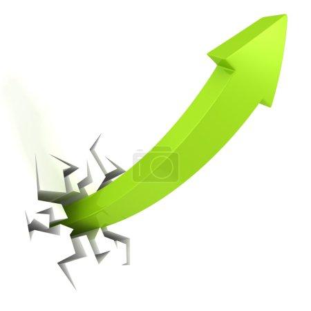 Green success arrow