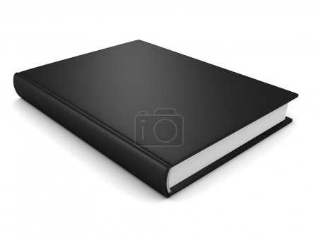 Photo for Black Book On White Background - Royalty Free Image