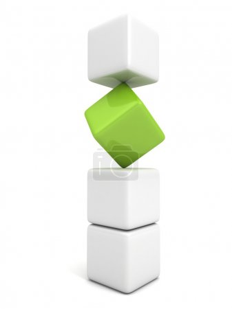 One individuality green cube