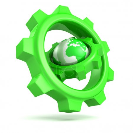 Abstract green gears