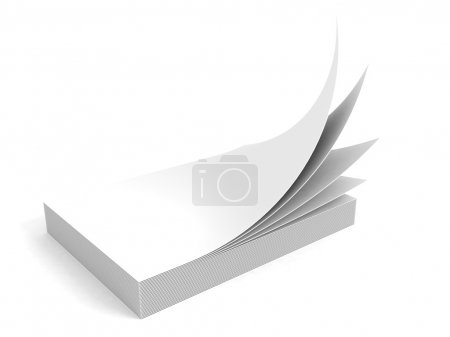 Stack of white office paper