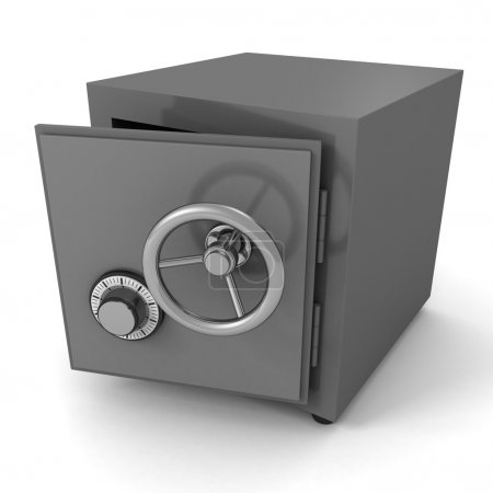 Opened security metal safe