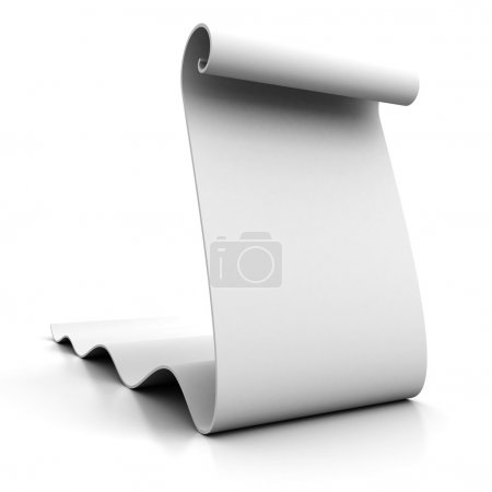 Blank scroll of white paper