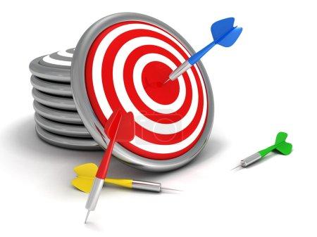 Concept darts target