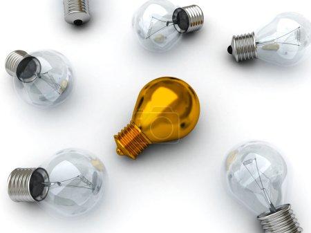 Golden lying bulb