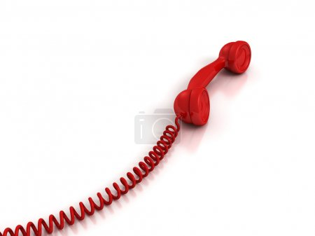 Red Handset with spiral wire