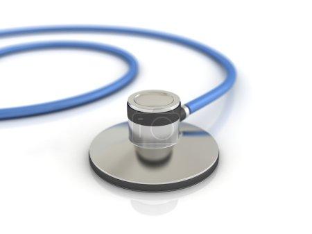 Blue medical stethoscope