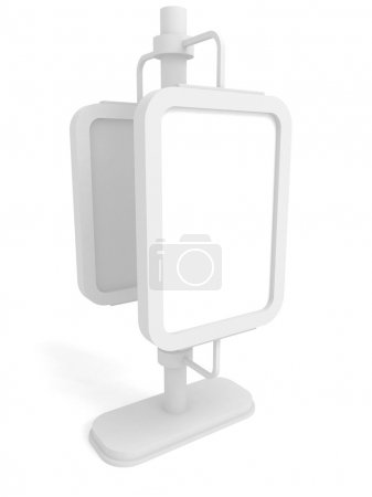 Photo for Blank street display advertising stand. 3d render illustration - Royalty Free Image