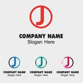 Letter J logo design template letter J icon