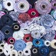 Постер, плакат: Textile rolls in the Fabric Shop