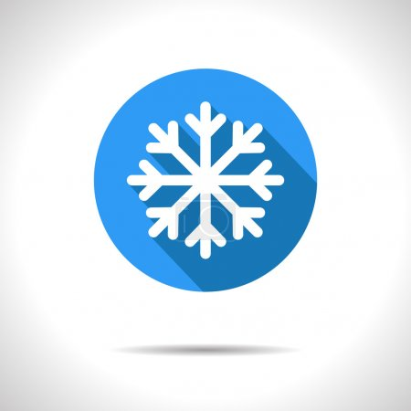 Vector snowflake icon. Eps10