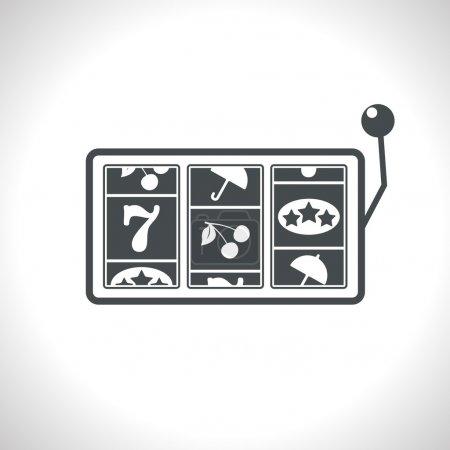 Vector gray slot game flat icon. Eps10...